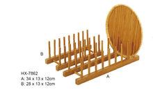 Eco- ambiente de bambú cocina estante para platos
