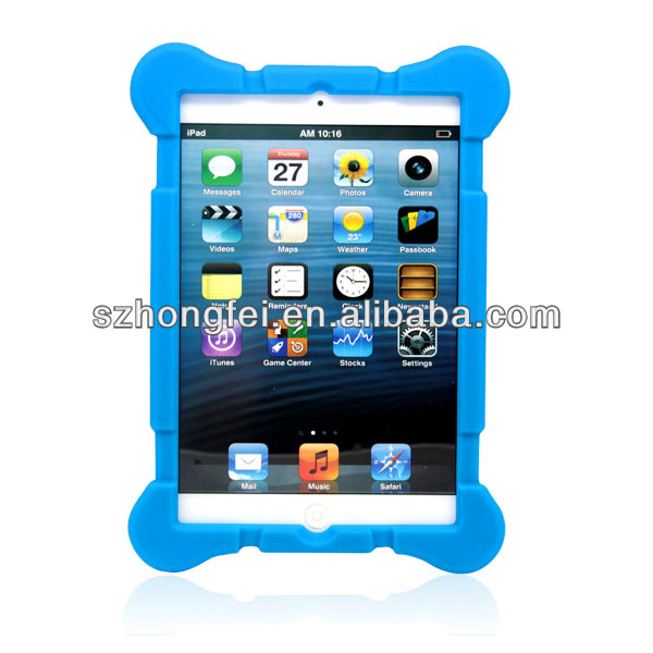 2013 new design two color mix rubber silicone case for mini ipad