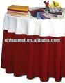 Coton/polyester nappe ronde pas cher