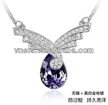 cheap personalized necklacefashion diamon crystal necklace usb memory