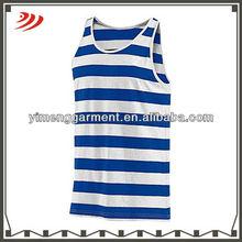 two-color jersey stripe tank for men stretch tank