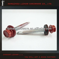 C1022 Head Painted Roofing Screw with metal washer / Hex Head SDS screw