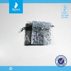 2015 fashion printed organza mini gift pouch