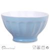 16cm two tone light blue ceramic bowl/bulk ceramic bowl/stoneware breakfast bowl
