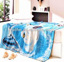 2015 New 100% Polyester Animal Printed Polar Fleece Blanket