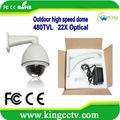 Ptz cctv tvl 700 1/3' sony ccd ir impermeável cctv hk-gv8277 27x zoom cctv câmera da abóbada ptz
