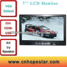 AV VGA USB 7'' LCD Wide Screen or Square TFT Display