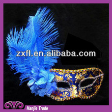 Wholesale Navy Color Venetian Feather Mask For Party