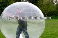 Inflatable bubble ball