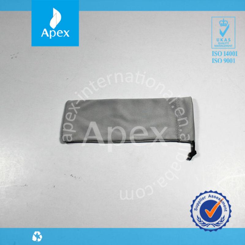 drawstring microfiber pen bag