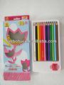 12 un grado de tilo lápiz de color en la caja de papel