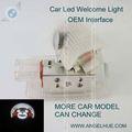 del coche del led logotipo de la puerta de luz de color 2 por una luz baratos led luz de tira