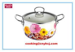 Carbon Steel Non-stick Porcelain Enamel Saucepot cookware, Fry Pan& Milk Pot