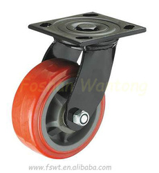 Polyurethane Rustic Furniture Swivel Cast Iron Caster Wheel