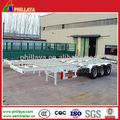 40ft 20ft o esqueleto& esquelético contenedores semi remolque/chasis del remolque de camiones de contenedores semi-remolque con cerraduras y candados