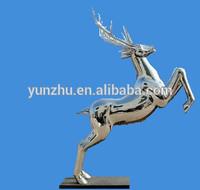 Large modern stainless steel animal sculpture,stainless steel deer statue