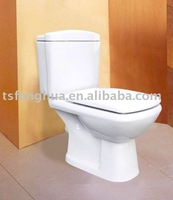 FH18C Washdown Close-coupled Two Piece Colorful Toilet Sanitary Ware Ceramic WC Bathroom Design