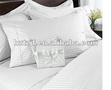 satin stripe hotel bedding set