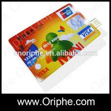 Custom logo Plastic 1GB to 128GB Credit card Business Card usb Pen Drive