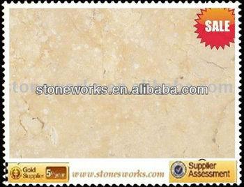 polished Beige marble tile for home decoration