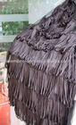 fancy black polyester tassel fringes / fringe for dresses