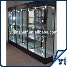 Rectangle glass display showcase