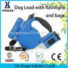 retractable dog leash with flashlight and bag