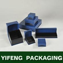 Luxury cardboard velvet custom logo printed paper jewelry box