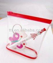 Gift Set Plastic Ball Pen+ Memo Pad in PVC zipper bag logo pen lady gift pen set plastic ballpoint memo set SA8000