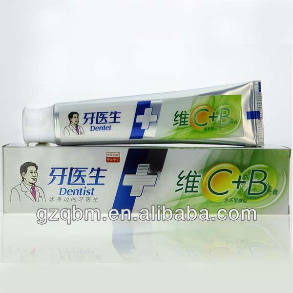 معجون الأسنان فيتامين 120g c+b( طبيب)/ فاكهي تبييض معجون الأسنان