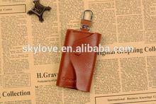 Fashion Key Chain Genuine Leather Key Holder Car Key Case