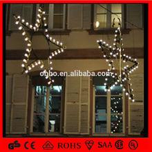 outdoors hanging big star rope led light flashing christmas decoration fancy motif windows star