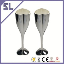 Tulip Champagne Glass Metal Toasting Glasses Flutes Hotel Tableware Wholesaler In China