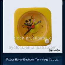 small square plastic children's desk alarm clock with backlight