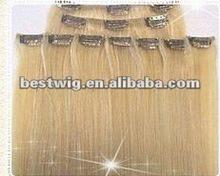 Yiwu human hair ,clip in hair extension