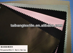 polyester&twill satin lining fabric