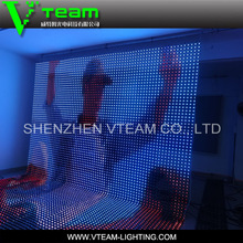 Working life more than 100000 hours transparent led curtain screens for stage backdrop
