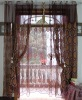 flower hot stamping faux silk poly window curtain