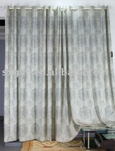 Grommets Top Hang Fashion Style Beautiful Jacquard curtains and draperies