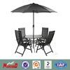 garden table and chairs+outdoor table+garden table with umbrella
