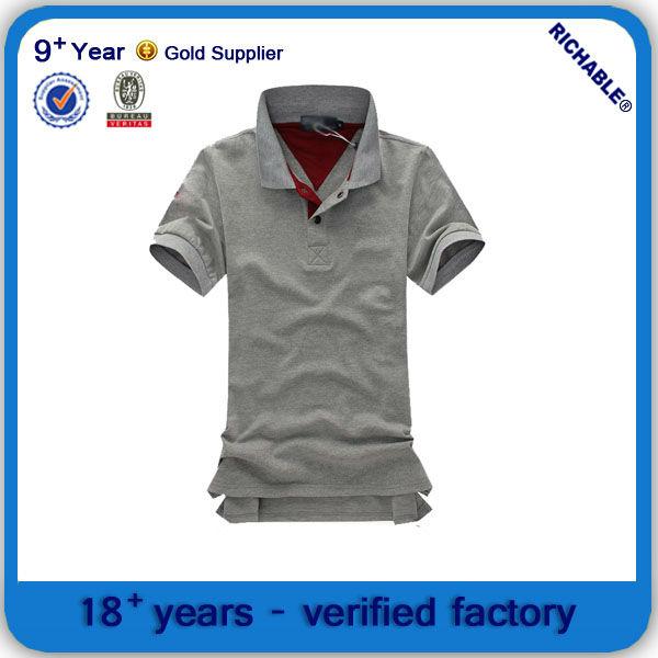 Hombres estilo de la camisa de polo, Precio bajo de la camisa de polo, Propietario de la fábrica de la camisa de polo
