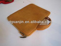 Professional PU Leather Computer Bag, Fancy Men's Leather Laptop Bag