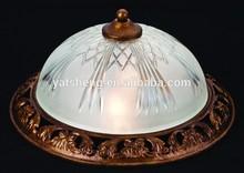 2 lamps resin /glass Ceiling light / Flush mounted light UL ETL