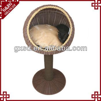 Eco-friendly handmade durable rattan pet bed