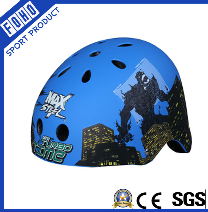 Blue color Extrame bicycle helmet , with 3 dize fit for kids and adult (FH-HE008)
