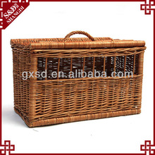 wicker country pet carrier parts