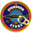 Canned fish. Royl sturgeon in own juice