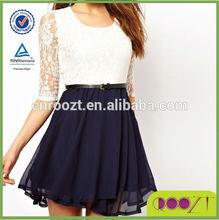 2014 new designer women Casual Chiffon dresses lady plus size chiffon dress