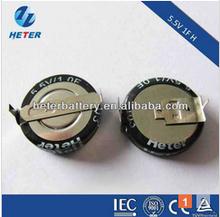Low ESR 5.5V 1F Coin Super Capacitor with IEC CB CE