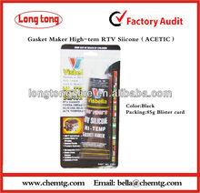 High Temperature RTV silicone sealant Acetic Black